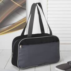 Сумка для обуви, отдел на молнии, наружный карман, цвет серый/чёрный ЗФТС