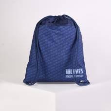 Мешок для обуви Оникс МО-26, 37*1*47, унив WOLVES синий Оникс