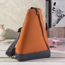 Рюкзак для обуви, отдел на молнии, цвет оранжевый ЗФТС