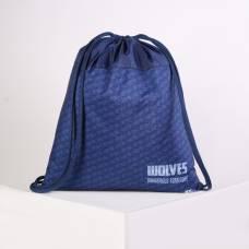 Мешок для обуви Оникс МО-27, 41*1*49, унив WOLVES, синий Оникс