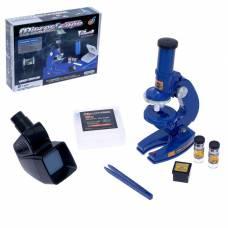 Игрушка детская микроскоп «Юный исследователь 2 в 1», с аксессуарами Sima-Land