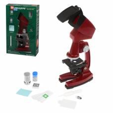Микроскоп детский, 90х увеличение, 3 объектива, аксессуары Shantou Gepai