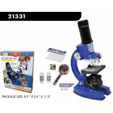 Набор для опытов с микроскопом и аксессуарами, 33 предмета, синий, пластмасса Eastcolight