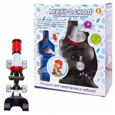 Микроскоп в наборе с аксессуарами, увеличение 100х, 400х, 1200х, в коробке, 21,5х9х24,5см Junfa Toys