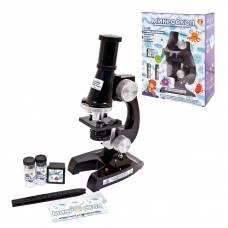 Микроскоп в наборе с аксессуарами, увеличение 100х, 200х, 400х, в коробке, 18х8,5х24см Junfa Toys