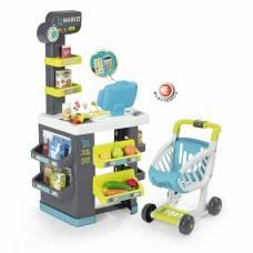 Супермаркет City Market с тележкой (свет, звук), 34 аксессуара Smoby