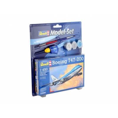 Подарочный набор со сборной моделью самолета Боинг 747-200, 1:450 Revell