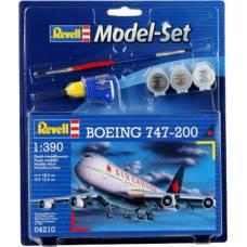 Подарочный набор со сборной моделью Boeing 747-200, 1:390 Revell
