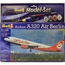 Подарочный набор со сборной моделью самолета Airbus A320 AirBerlin, 1:144 Revell