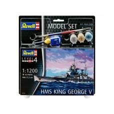 Набор со сборной моделью Revell 65161 Линкор HMS King George V, 1:1200 Revell