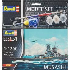 Набор со сборной моделью Revell 66822 Линкор Musashi, 1:1200 Revell