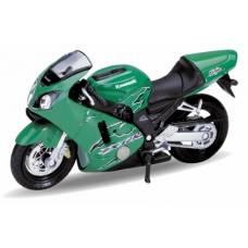Мотоцикл Kawasaki Ninja ZX-12R 2001, 1:18 Welly