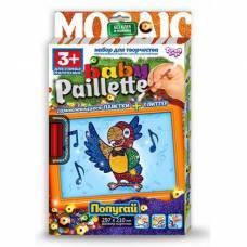Мозаика из пайеток и глиттера Baby Paillette - Попугай Кеша Данко Тойс / Danko Toys