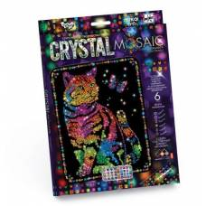 Набор для творчества Crystal Mosaic - Кот с бабочкой Данко Тойс / Danko Toys