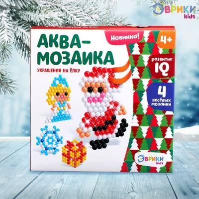 Аквамозаика «Дед мороз и Снегурочка», подвес на ёлку Эврики