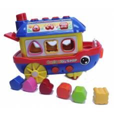 Музыкальный кораблик-сортер с формочками Happy Toot Ship (свет, звук) Shenzhen Toys