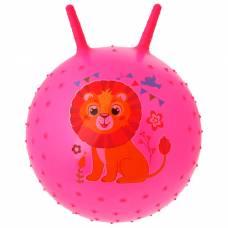 Мяч прыгун с рожками массажный