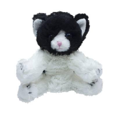 Мягкая игрушка Teddykompaniet котенок 20 см, бело-черный