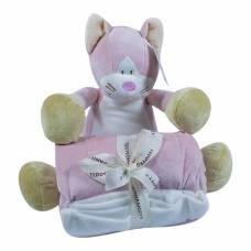 Мягкая игрушка Teddykompaniet Котик и пледик, 29 см