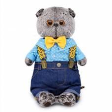 Мягкая игрушка «Басик» в джинсах с подтяжками, 25 см Басик и Ко