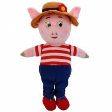 Мягкая музыкальная игрушка «Поросёнок» в костюме и шляпе, 26 см Мульти-Пульти