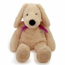 Мягкая игрушка «Собака», цвет бежевый/фиолетовый, 40 см Lapkin