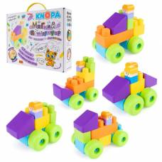 Мягкий конструктор для малышей «Автопарк», 17 деталей Knopa