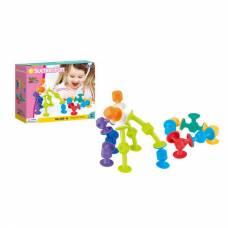 Мягкий конструктор с присосками Suction Fun, 16 деталей Junfa Toys