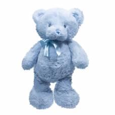 Мягкая игрушка Teddykompaniet Голубой мишка с бантом, 19 см