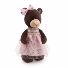 Мягкая игрушка Choco&Milk - Медведица в платье с блестками, 30 см Orange