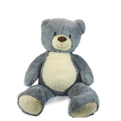 Мягкая игрушка Teddykompaniet Медвежонок Валле, серый, 60 см