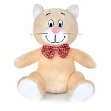 Мягкая музыкальная игрушка «Котик с бантиком», бежевый, 20 см MAXIPLAY