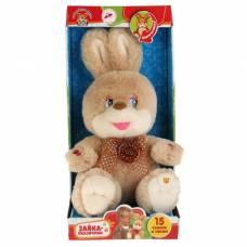 Мягкая музыкальная игрушка «Зайки», рассказывает стихи и поёт песенки, 25 см Мульти-Пульти