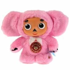 Мягкая музыкальная игрушка «Чебурашка», цвет розовый, 17 см Мульти-Пульти
