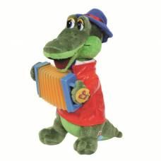 Мягкая музыкальная игрушка «Крокодил Гена» с аккордеоном, 33 см Мульти-Пульти