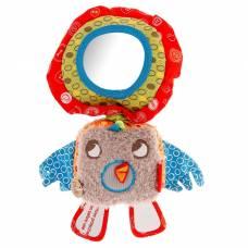 Мягкая музыкальная игрушка-погремушка «Птичка», с зеркальцем Little Bird Told Me