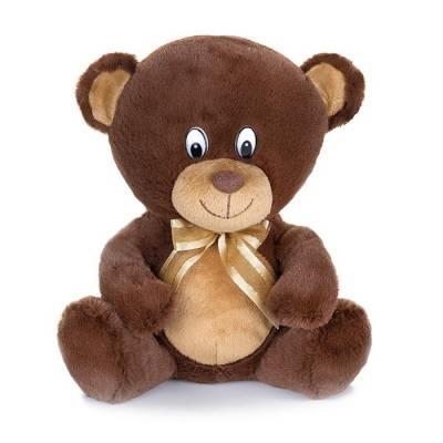 Мягкая музыкальная игрушка «Мишка с бантиком», цвет коричневый, 20 см MAXIPLAY
