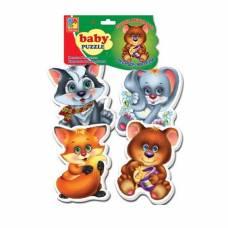 Мягкие пазлы Baby Puzzle - Лесные жители, 16 элементов Vladi Toys