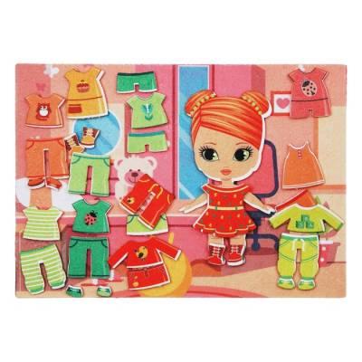 Дидактический набор с игровым полем «Одежда для девочки», 32 детали Lip Lip