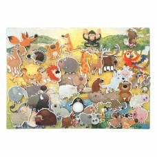Дидактический набор с игровым полем «Зоопарк», 35 деталей Lip Lip