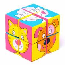 Набор мягких кубиков «Собери картинку.Зверята» Мякиши