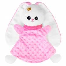 Развивающая игрушка « Кукла на руку Зайка» , цвет розовый Мякиши