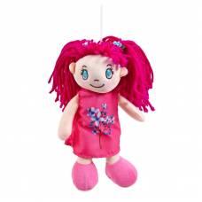 Кукла мягконабивная в малиновом платье, 20 см ABtoys