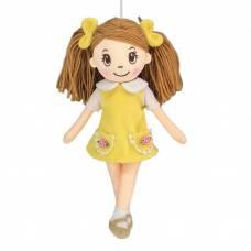 Кукла мягконабивная в желтом платье, 30 см ABtoys