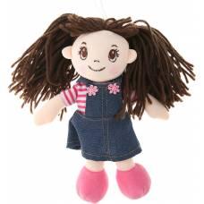 Кукла мягконабивная в джинсовом сарафане, 20 см ABtoys