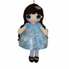 Кукла мягконабивная в голубом платье, 50 см ABtoys