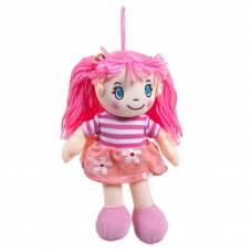 Кукла мягконабивная в розовом платье, 20 см ABtoys