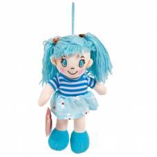 Кукла мягконабивная в голубом платье, 20 см ABtoys