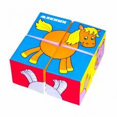 Кубики «Собери картинку» - Домашние животные Мякиши