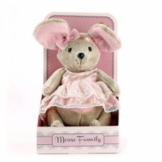 Мягкая шарнирная игрушка Mouse Family - Зефирка, 25 см Fluffy Family